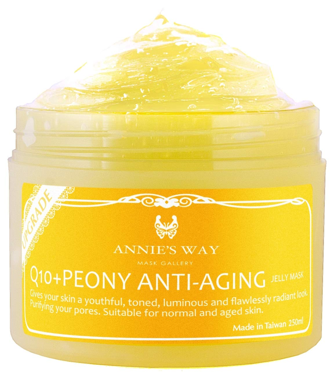 ANNIE'S WAY [Upgraded] Jelly Mask 250ml/8oz Q10+Peony Anti-Aging Jelly Mask