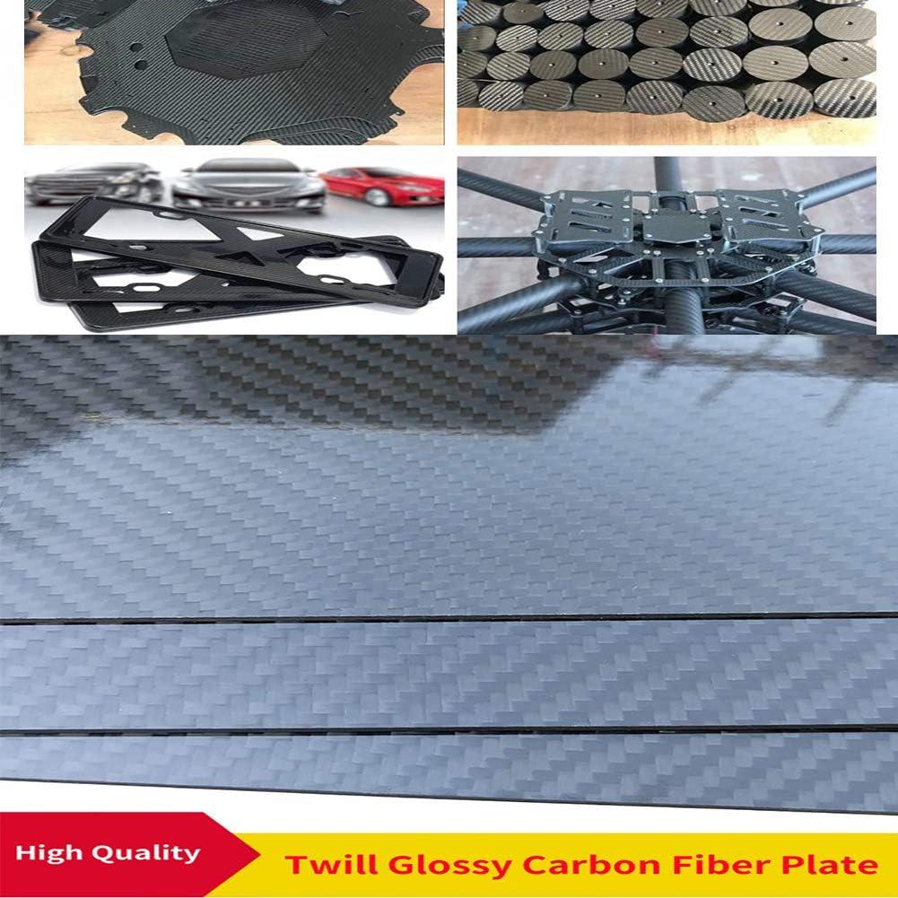 -500x600mm-8mm Twill Shiny Surface SOFIALXC 3K Carbon Fiber Board,100/% Fiber Sheet Laminate Plate Panel