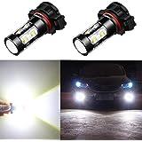 Alla Lighting 5201 5202 LED Fog Light Bulbs CANBUS Xtreme Super Bright High Power 50W 12V LED DRL PS19W 12085 PS24W…