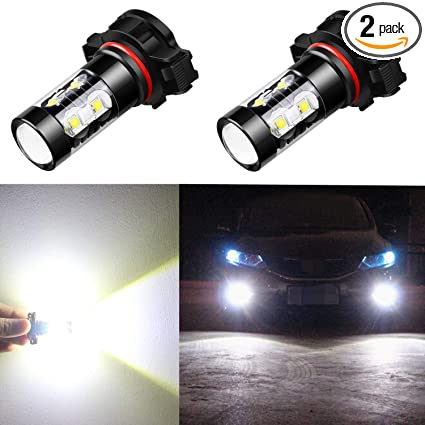 Amazon Com Alla Lighting 5201 5202 Led Fog Light Bulbs Super Bright