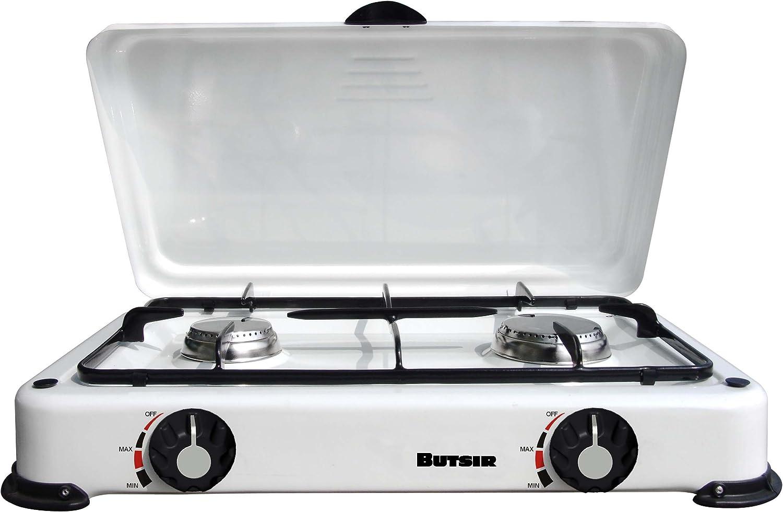 Butsir CEBC0018 - Cocina esmaltada, 2 Fuegos, con Tapa ...