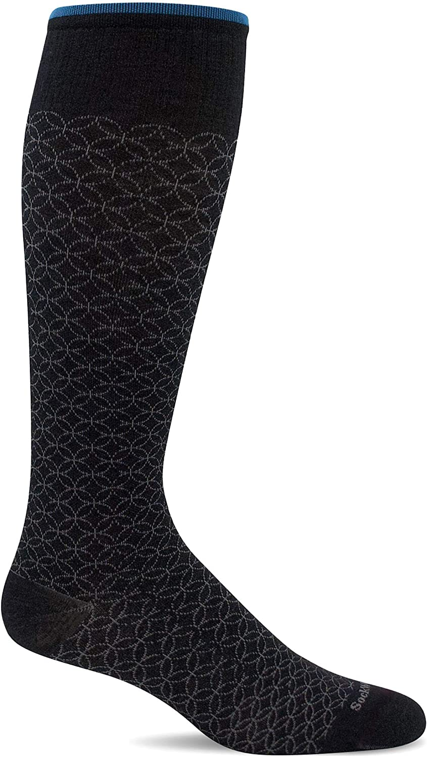 Sockwell Womens Featherweight Fancy Moderate Graduated Compression Sock