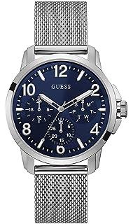 Guess Reloj Multiesfera para Hombre de Cuarzo con Correa en Acero Inoxidable W1040G1