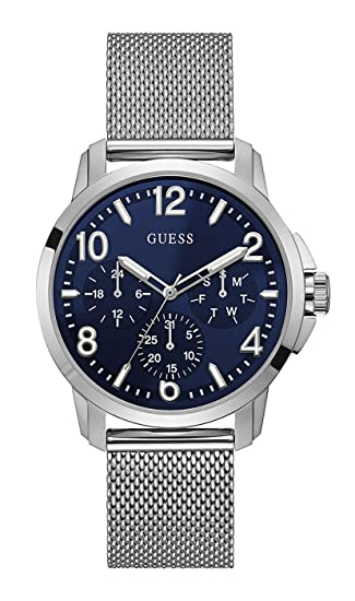 Guess Reloj Multiesfera para Hombre de Cuarzo con Correa en Acero Inoxidable W1040G1: Amazon.es: Relojes