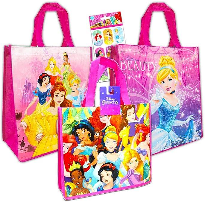 Medium Personalized Princess Tote Bag Reversible Bag Canvas Tote Bag Tote Bag for Kids Bookbag Princess Princess Girl Tote Bag