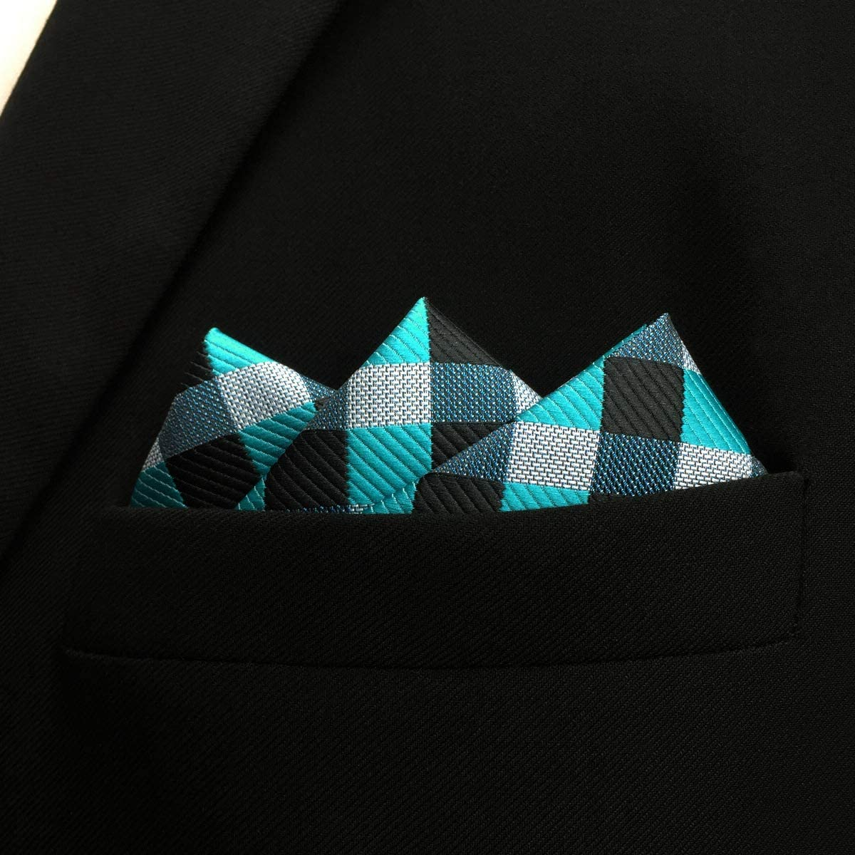 Shlax/&Wing Checked Multicolor Pocket Square Mens Hankies Hanky PH13