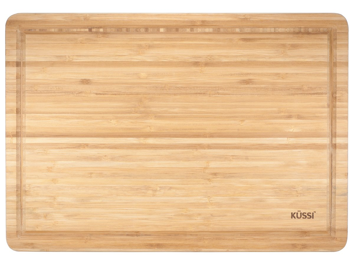 Kussi Bamboo Cutting Board with Juice Groove - 3 Layer - 43cm x 30cm (59601) House of Knives