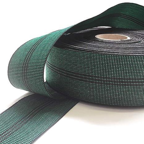 Correa elástica GW3, 70 mm, Verde, Rollo de 10 Metros para ...