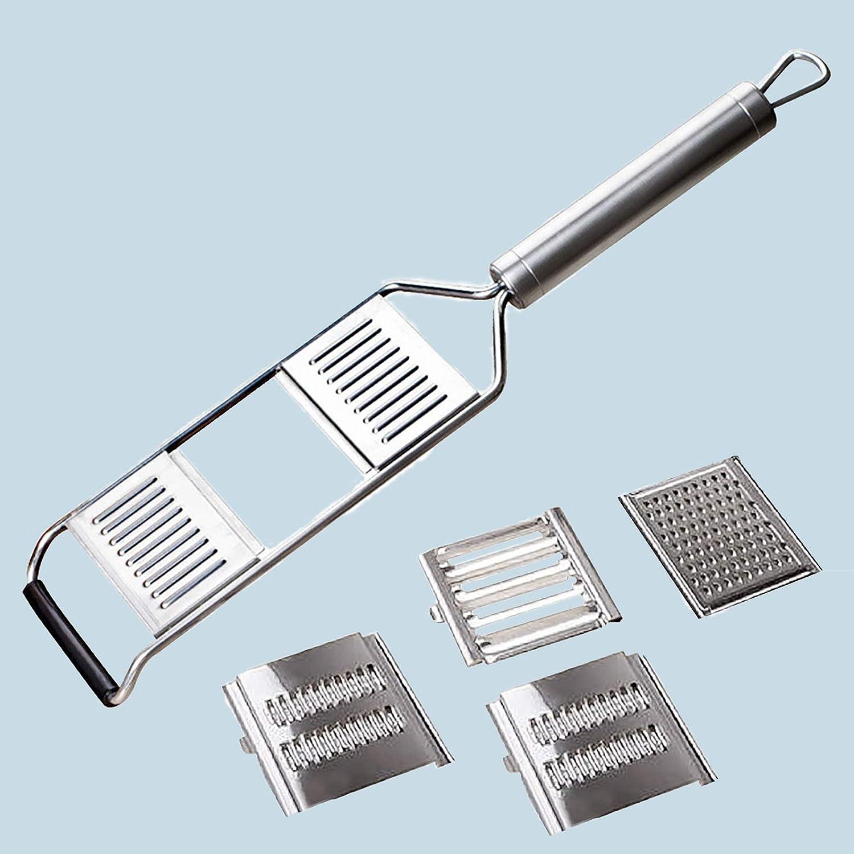 Multi-Purpose Vegetable Slicer,Stainless Steel Shredder Cutter Grater Slicer,Manual Food Chopper Vegetable Cutter Kitchen Tools,Portable Vegetable Cutter Slicer Chopper Grater