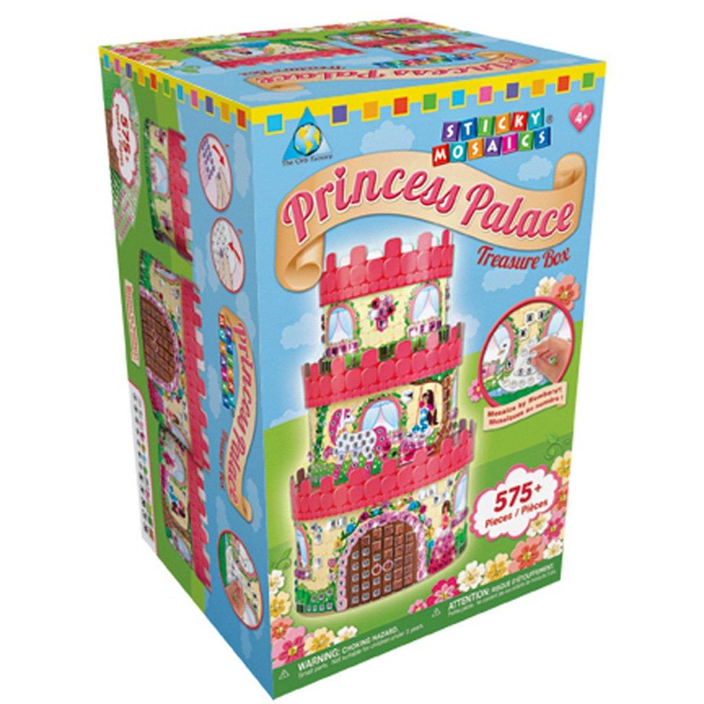 The Orb Factory Sticky Mosaics Kit-Princess Palace Treasure Box 67519