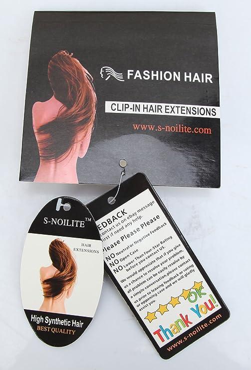 S-noilite® Un clip de pieza en las extensiones de cabello ombre extensiones de pelo Marrón oscuro a ceniza rubia: Amazon.es: Belleza