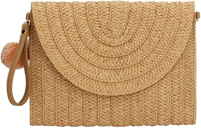 Verus - Bolso de mano de paja para mujer