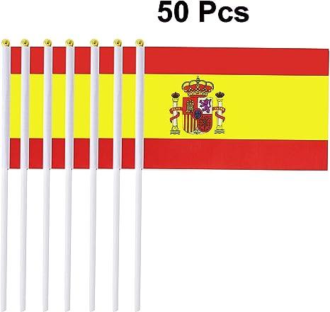 Clerfy Acc Alemania Banderas de Mano,14 x 21cmpulgadas Mini Banderas Pequeñas de Alemania,Alemanas 50 Piezas (España): Amazon.es: Deportes y aire libre