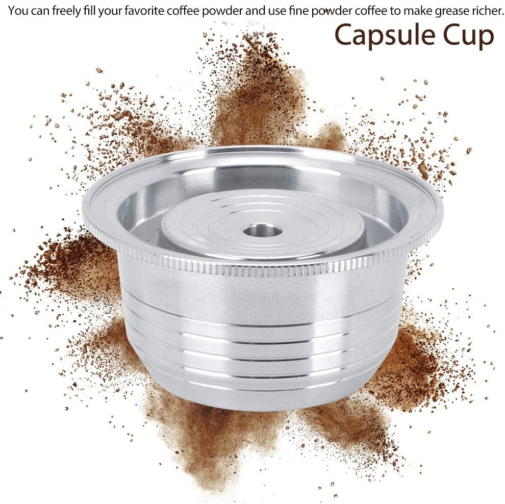 Nitrip Reusable Coffee Capsule Filter Cup Replacement Stainless Steel Fit for Nespresso Vertuoline GCA1 Coffee Machine 230ml