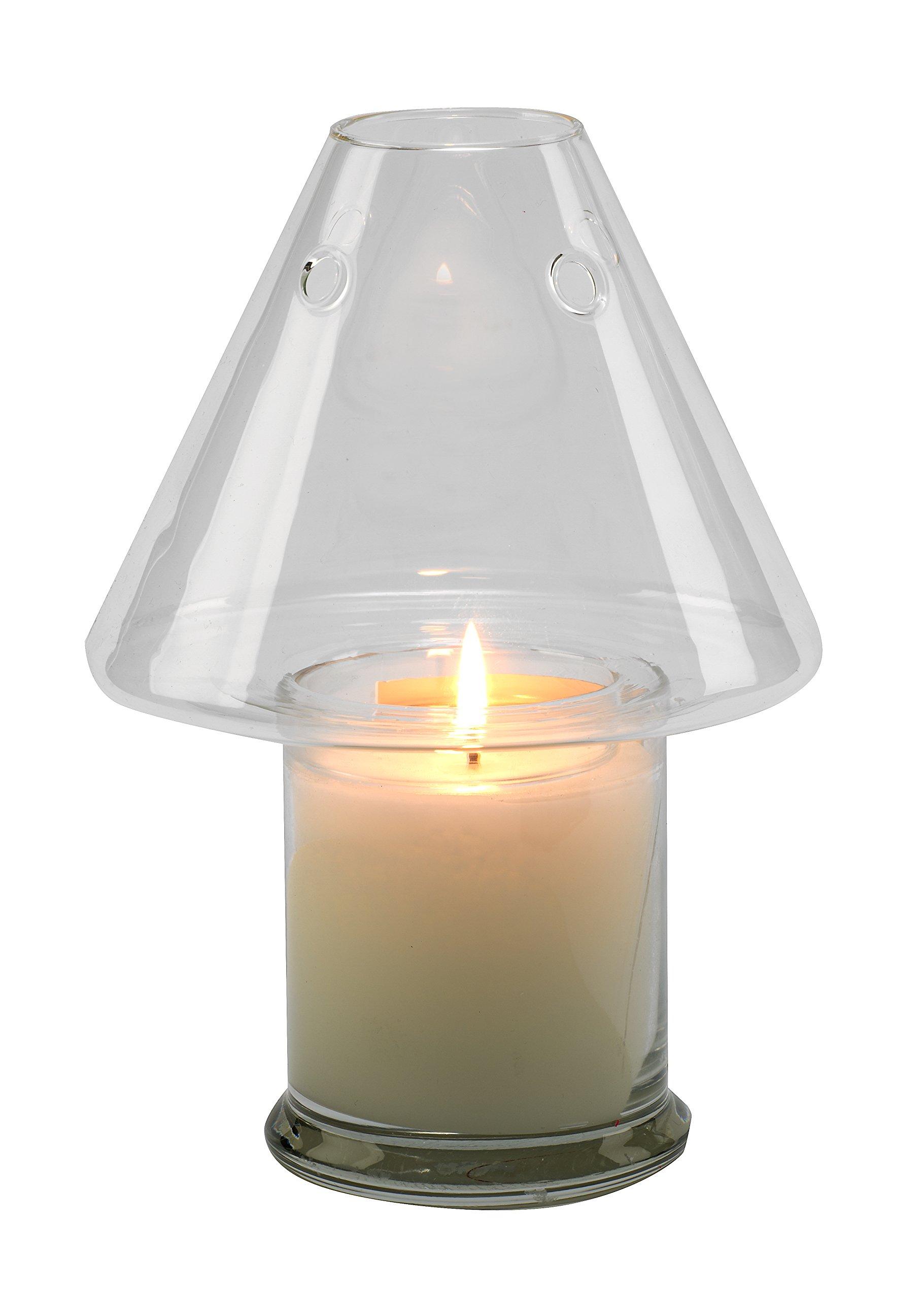 Biedermann & Sons Clear Glass Jar Candle Shade by Biedermann & Sons