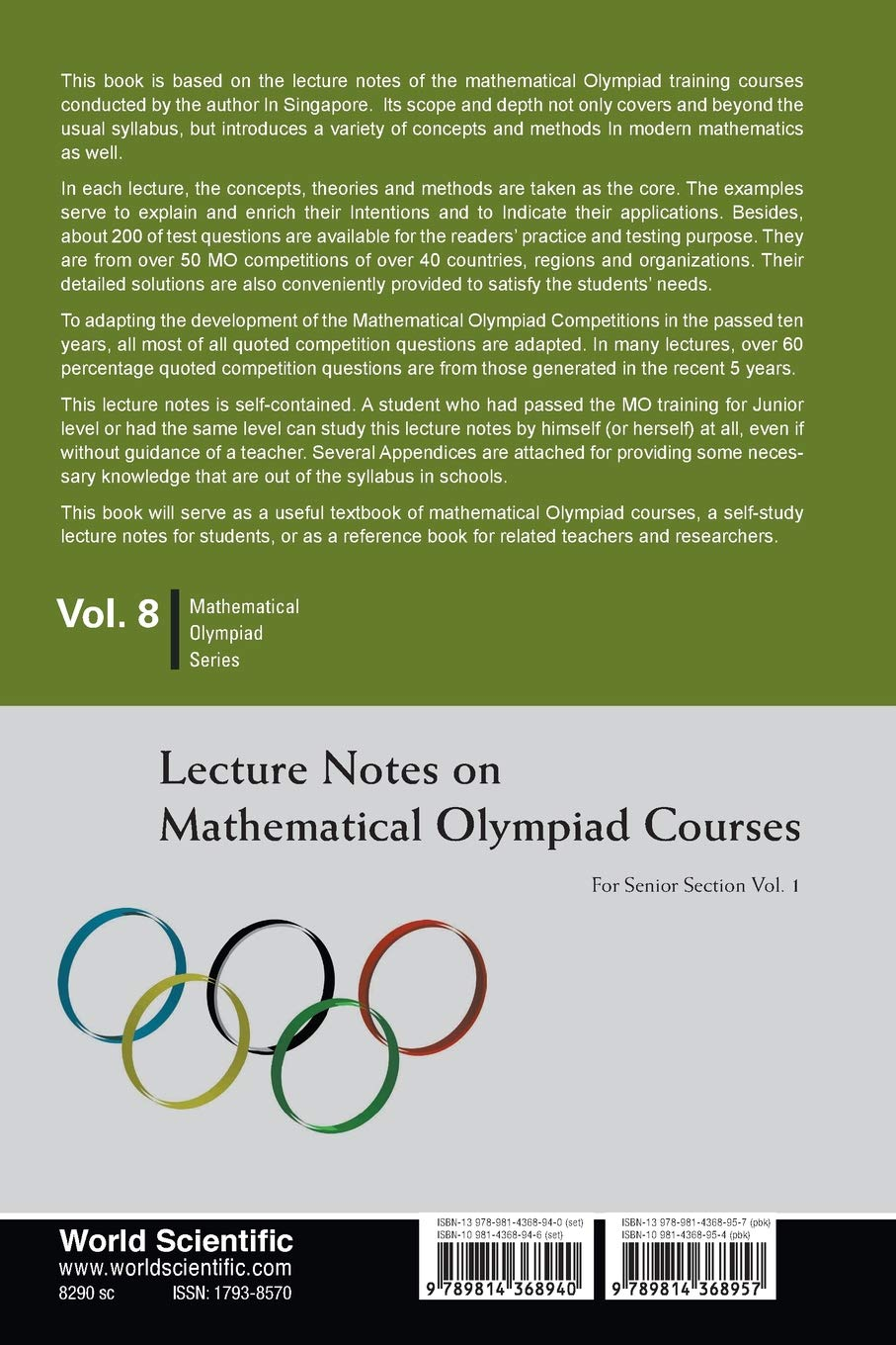 Buy Lecture Notes on Mathematical Olympiad Courses: Volume 8: For