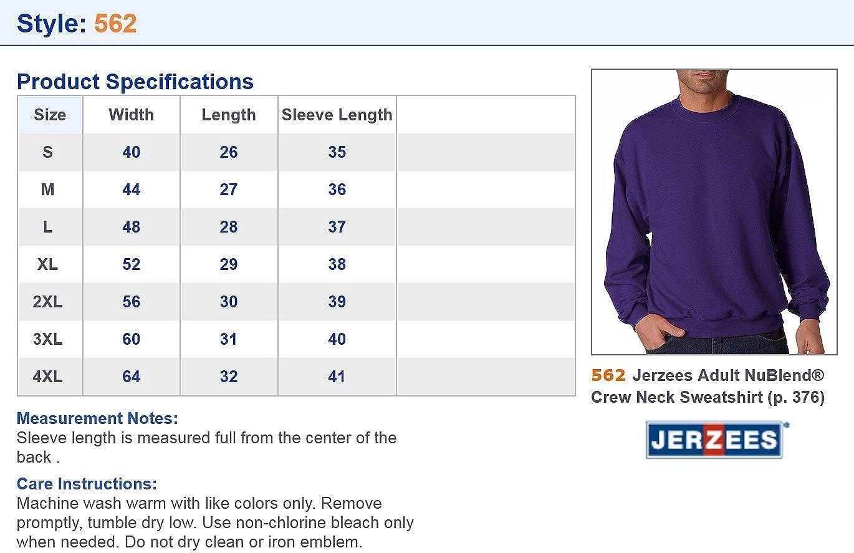 50//50 NuBlend Fleece Crew 562 -TRUE RED-M Jerzees mens 8 oz