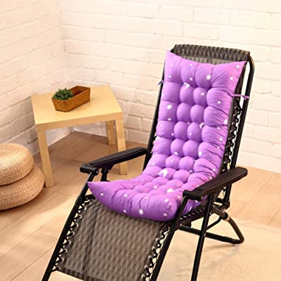 HMWPB Sun Lounger Cushions, Lounge Chair Cushion - Portable Garden Patio Thick Padded Bed Recliner Relaxer Chair Seat Cover for Travel Holiday Indoor Outdoor-Purple 110x40cm(43x16inch): Kitchen & Dining