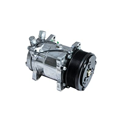 Top Street Performance HC5002C A/C Compressor with Black Clutch (Chromed Serpentine-Belt Sanden 508 R134A Type): Automotive