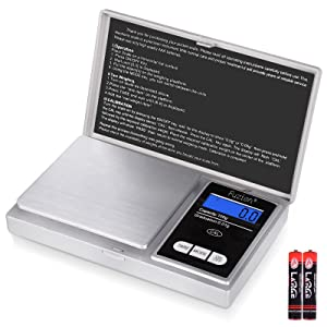 Fuzion Pocket Gram Scale 1000g/0.1g, Mini Digital Scales Grams and Ounces, Herb Scale, Portable Travel Food Scale, Medication Scale( Battery Included )