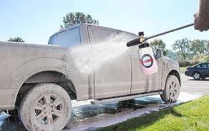 MATCC Foam Cannon III Heavy Duty Car Foam Blaster Wide Nick Bottle Adjustable Snow Foam Lance Pressure Wash Nozzle with 1/4'' Quick Connector