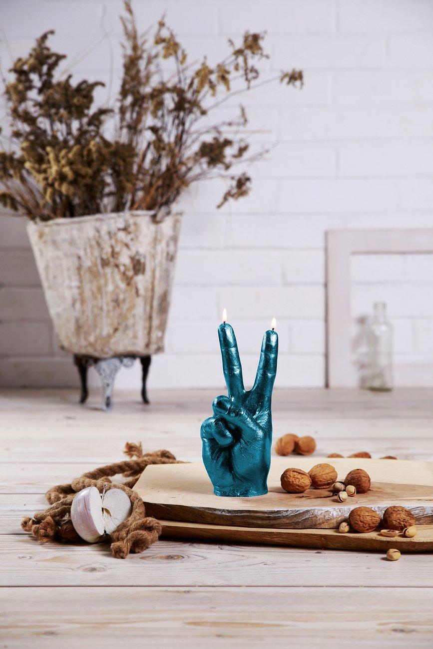 Candellana Candles Candellana- Peace Candle-Blue Metallic,