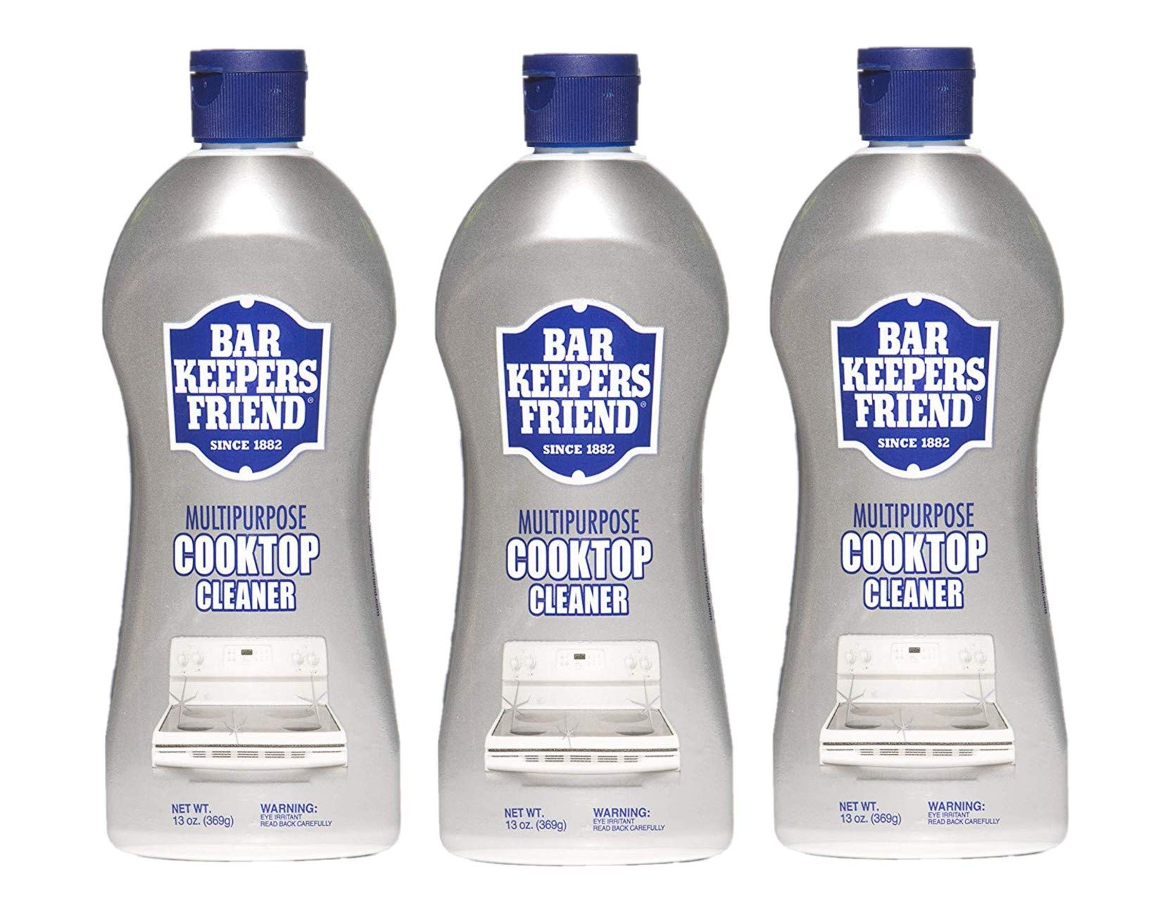 Bar Keepers Friend Multipurpose Cooktop Cleaner (13 oz) - Liquid Stovetop Cleanser - Safe for Use on Glass Ceramic Cooking Surfaces, Copper, Brass, Chrome, and Stainless Steel - Pack of 3 by  Bar Keepers Friend (Image #1)