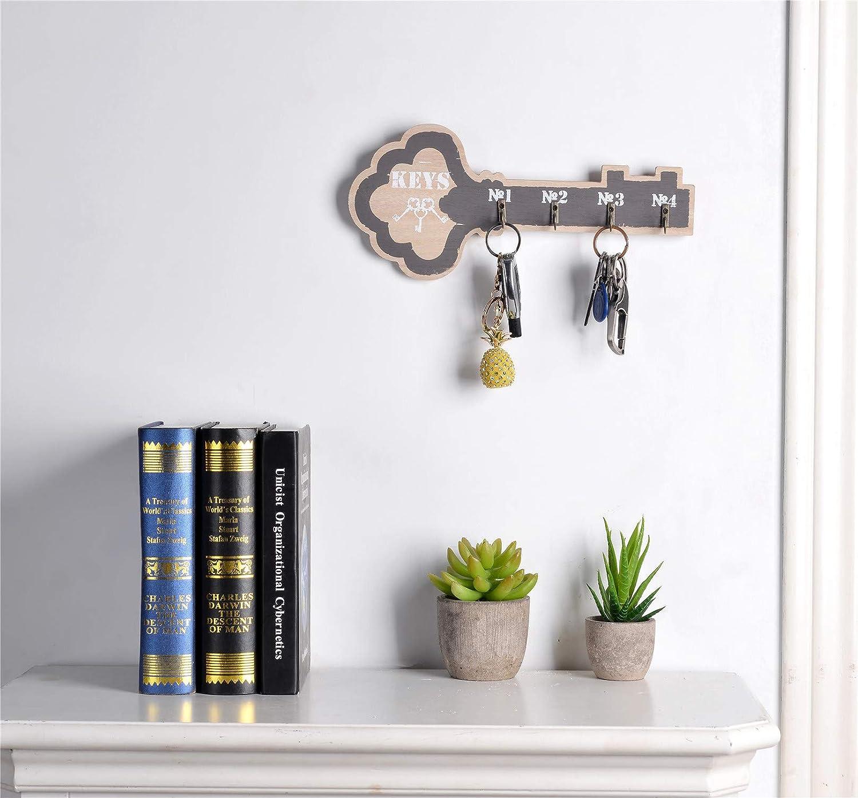 Amazon.com: Llavero organizador de madera con forma de llave ...