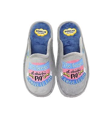 Biorelax by Zapattu - Zapatillas de Casa Mujer No Tengo el Chichi Pa Farolillos: Amazon.es: Zapatos y complementos