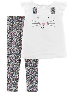 93e216b4f Amazon.com: Carter's Baby Girls' 2 Pc Playwear Sets 239g294: Clothing