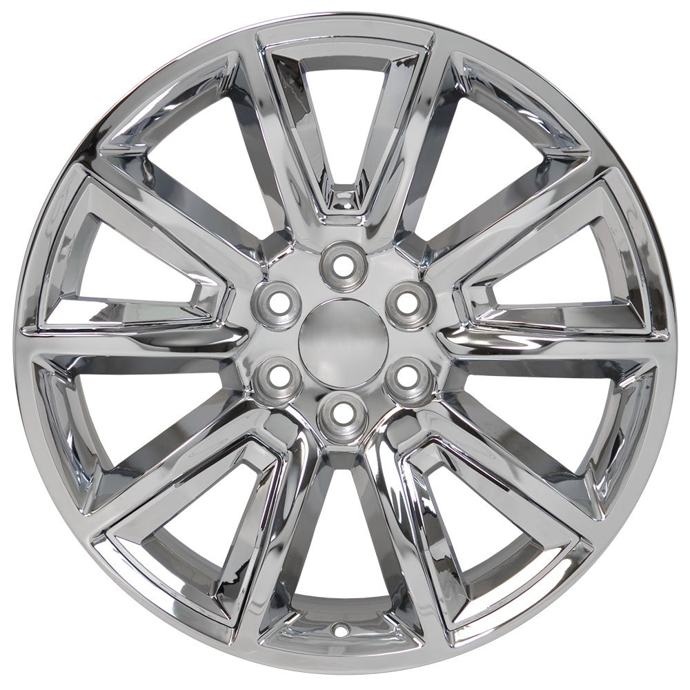 OE Wheels 22 Inch Fit Chevy Silverado Tahoe GMC Sierra Yukon Cadillac Escalade CV73B Chrome 22x9 Rims Hollander 5696 SET