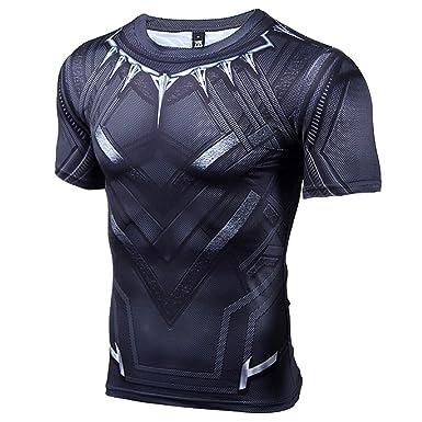 199494b6678 COOLMAX Raglan Short Sleeve Black Panther Compression Shirts (XXX-Large