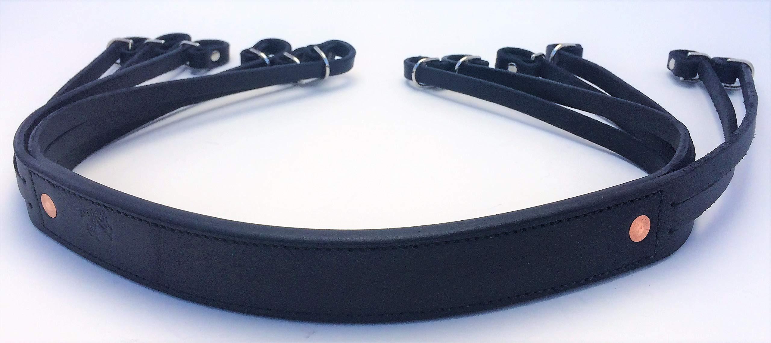 AP Saddlery Low Profile Leather Duck Strap (Black)