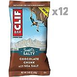 CLIF BAR - Sweet & Salty Energy Bar - Chocolate Chunk with Sea Salt - (2.4 Ounce Protein Bar, 12 Count)