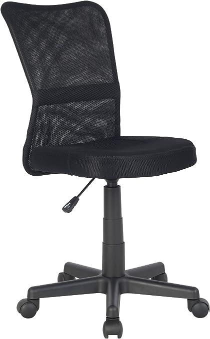 SixBros. Chaise de Bureau Fauteuil à Roulette Noire H 298F2064