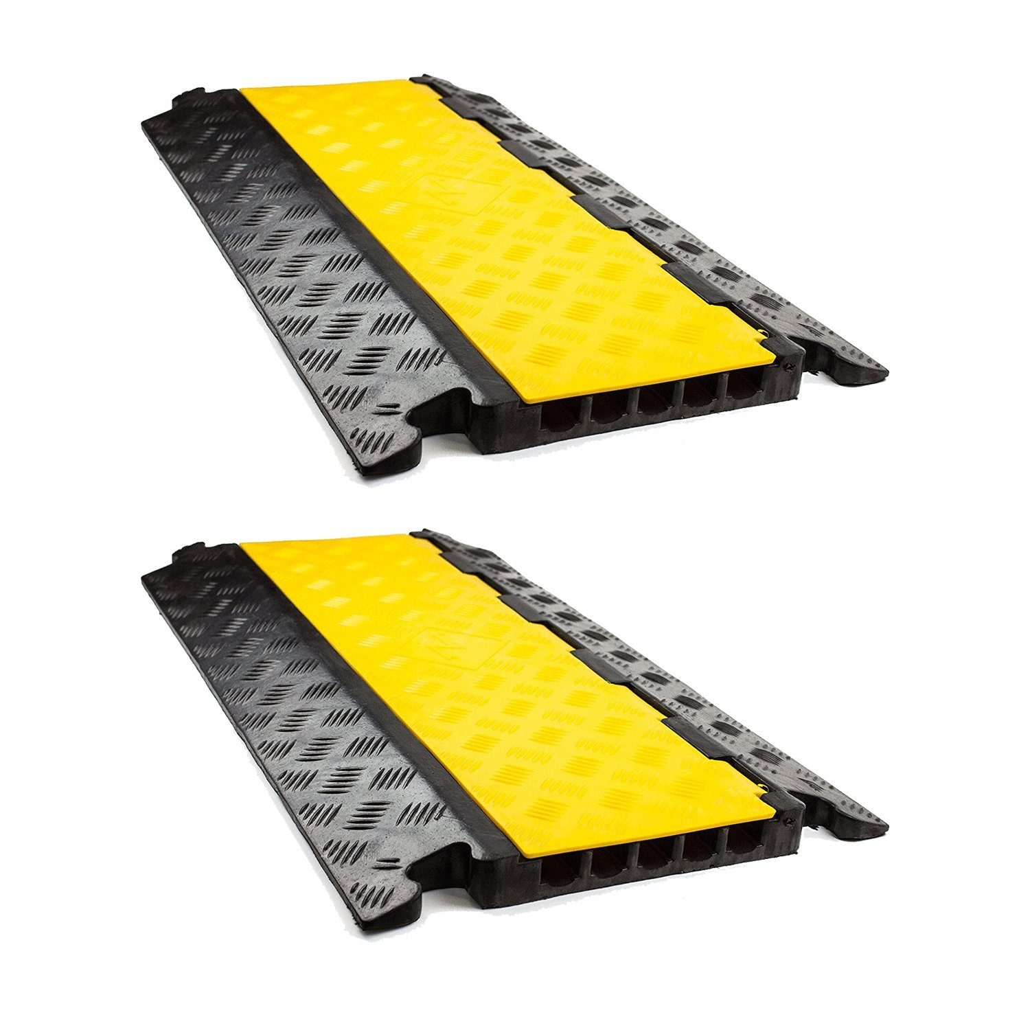 RK RK-CP-5C 5 Channel Modular Rubber Cable Protector Ramp (Straight, Qty:2)