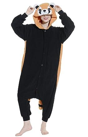 Image of: Halloween Costumes Unisex Adult Pyjamas Cosplay Onesie Red Panda Animal Nightwear Height 140187cm Amazoncouk Clothing Belife Unisex Adult Pyjamas Cosplay Onesie Red Panda Animal Nightwear