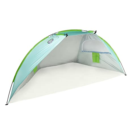 3557a8fd7ac0 Amazon.com: Beach Hut Cabana Tent Shade SPF 50 Portable Carry Bag Sun  Protection Shelter: Sports & Outdoors