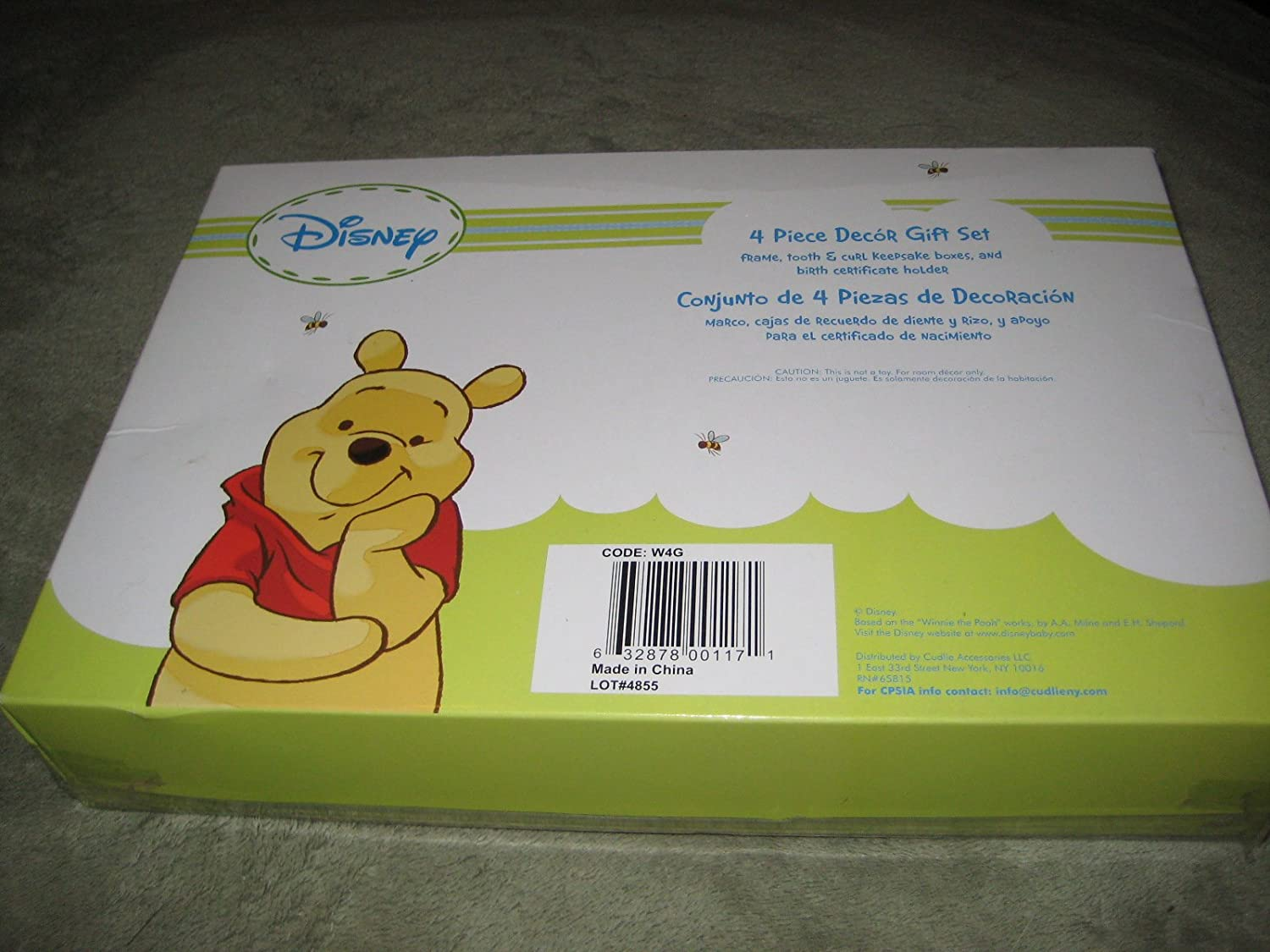 Amazon.com : DISNEY FRAME, TOOTH & CURL KEEPSAKE BOXES & BIRTH CERTIFICATE HOLDER WINNIE THE POOH : Baby Keepsake Products : Baby