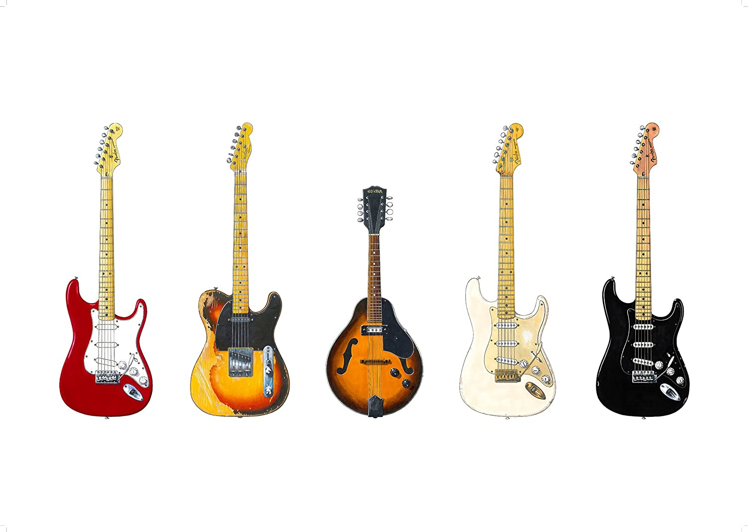 George Morgan Illustration Las Famosas Guitarras de David Gilmour ...