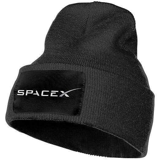 Amazon.com  BBLIJEAN SPACEX Adult Knit Cap Winter Unisex Skull Hat ... 99cd2f49bf5