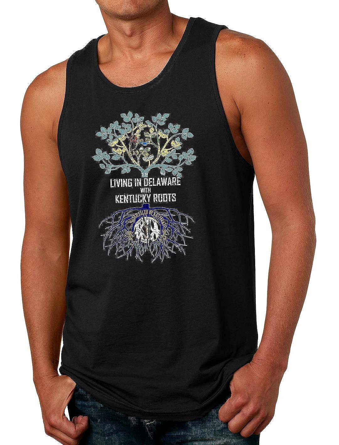 Tenacitee Mens Living in Delaware Kentucky Roots T-Shirt