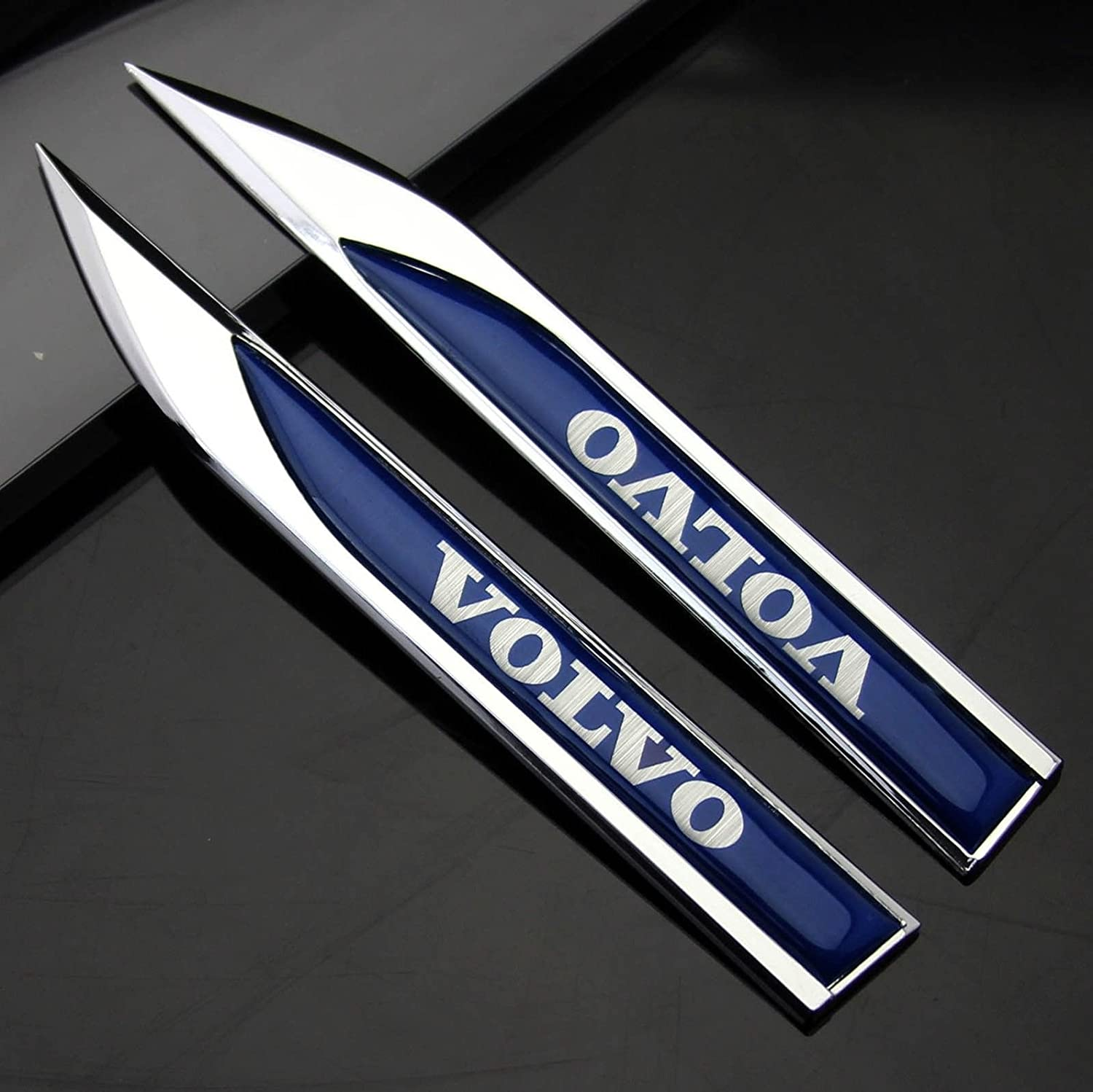 Incognito 7 2 pcs 3d laxury volvo logo volvo badge volvo body side emblems volvo stickers volvo emblem volvo dagger for all volvo cars amazon in car