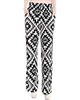 Simplicity Women's Palazzo Pants with Drawstring Waist/Stretch Fit Fibers