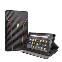 Ferrari Hülle für FireHD8-Tablet (8-Zoll-Tablet, 7. und 8. Generation - 2017 und 2018), Modell Carbon, mit Schlaf-/Wach-Funktion, Schwarz