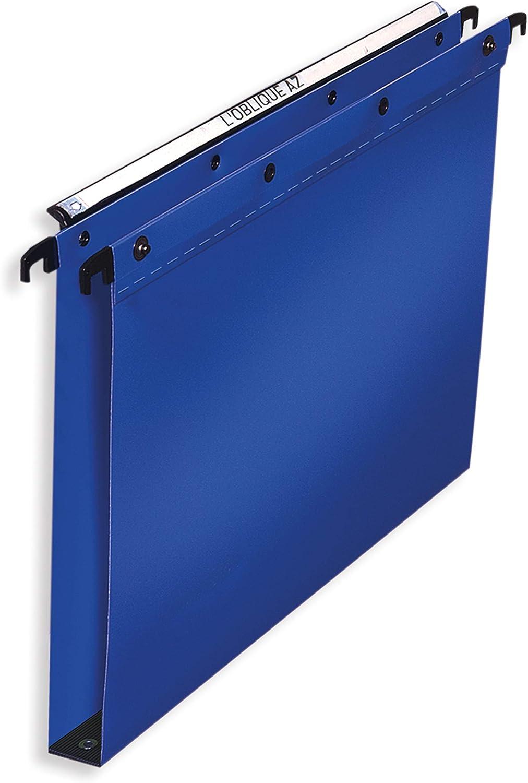 L'Oblique AZ 383002 - Carpetas colgantes (para cajón, fondo: 30 mm), color azul