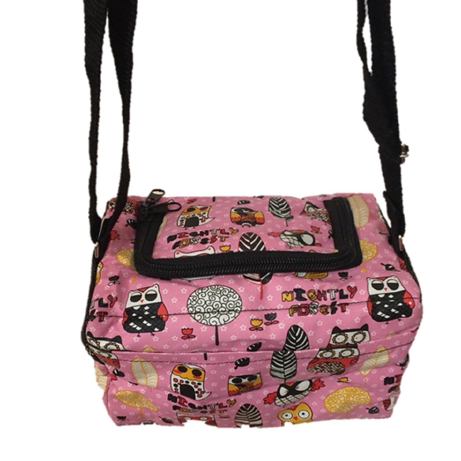 HOT! Cute Travel/Portable Animal Printed Style Sugar Glider Marmoset Bird Hamster Squirrel Chinchillas Small Pet Travel Cage Shoulder Bag Comfort Carrier By Polar Bear's Republic (Pink) by Polar Bear's Pet Shop