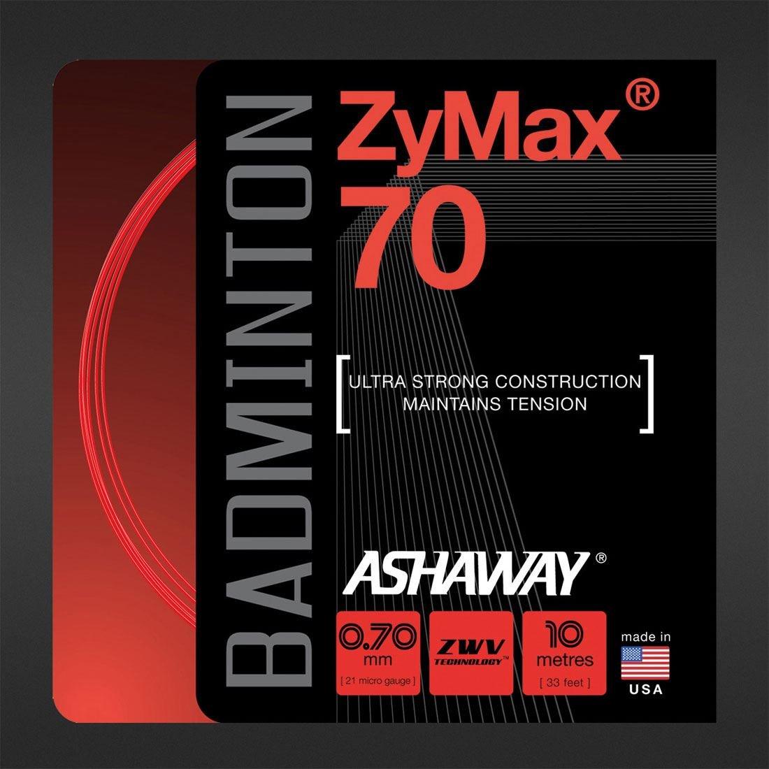 Ashaway Professional /& Begginners Badminton 70 Racket String Zymax Z70sw-10m Set