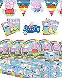 Peppa Pig fête d'anniversaire d'enfant Kit pour 8,16,24,32avec New Style bannière.