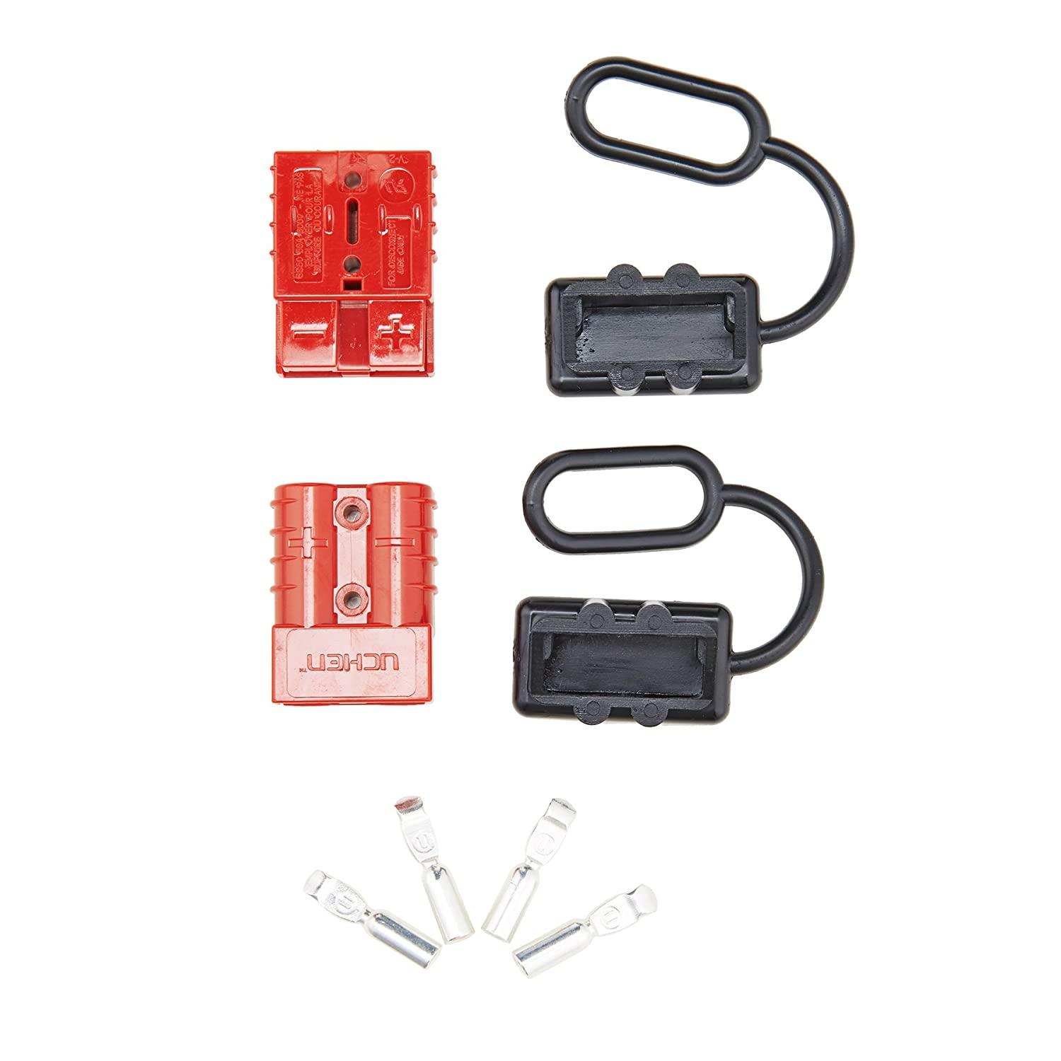 OrionMotorTech 4 Pcs 6-8 Gauge Battery Quick Connect//Disconnect Wire Harness Plug Kit for Recovery Winch or Trailer Orion Motor Tech 4332987149 50A 4 Pcs 12-36V DC